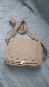 Brown leather crossbody bag with fringe Morgan Hill