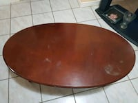 round brown wooden dining table Brampton, L6T 2G3