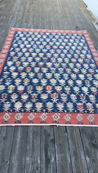 blue and multicolored floral area rug Newtown
