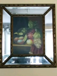 Oil painting on canvas with mirrored frame Washington