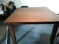 brown wooden high table with 4 chairs and bench Canton, 44714