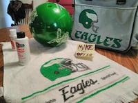 Vintage eagles Brunswick bowling ball and gear   Allentown, 18103