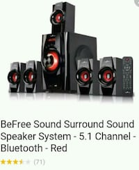 black-and-red 6.1 multimedia speaker with remote Los Angeles, 90044