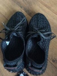 Pair of black adidas yeezy boost 350 Hamilton, L8B