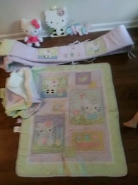 Hello kitty bed set includes bumper blanket wall d Fredericksburg, 22408