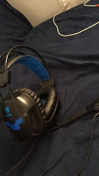 black and blue corded headphones High Point, 27265