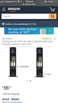 Technicolor TC8715D Router Rowland Heights, 91748