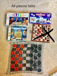 Board games .. life, monopoly, connect 4, checkers Howard, 54313