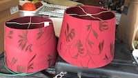 two cone red floral lampshades New London, 19352