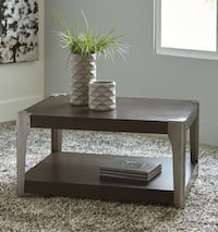 rectangular brown wooden coffee table Franklin Park