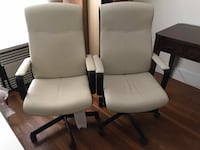 Two great leather office chairs Boston