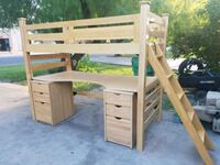 Bunk bed with desk and cabinets Pharr, 78577
