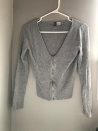 gray zip-up cardigan New Tecumseth, L9R 1N7