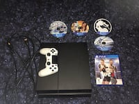 Sony PS4 console, white controller and four game discs Rogers, 72758
