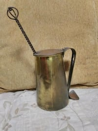 vintage Cape Code brass mug &Pumis wand for starti