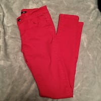 Red size 3 pants