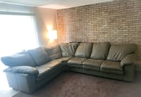 Real leather sectional for sale like new!!