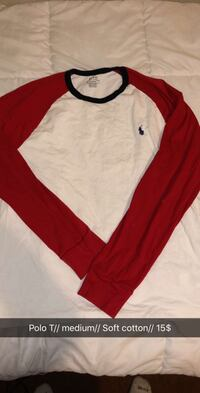 white and red long-sleeved shirt Watsonville, 95076