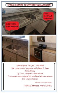 Granite countertops on clearance Gaithersburg, 20877