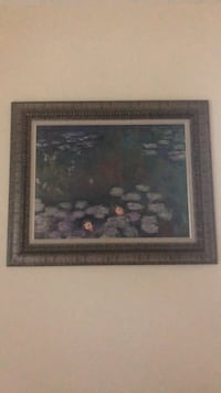 brown wooden framed painting of flowers Woodcliff Lake, 07677