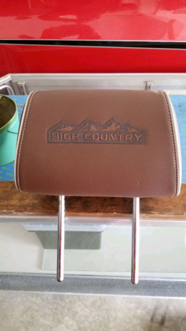 Factory high country head rest.  Leather