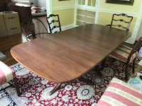 Antique mahogany table with 5 chairs (circa 1940) ALEXANDRIA