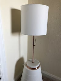 Rose Gold and Marble Table Lamp