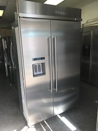 "KITCHENAID BLACK STAINLESS 48"" BUILT IN SIDE BY SIDE FRIDGE San Diego, 92123"