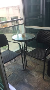Cute outdoor patio set with 2 chairs  536 km