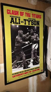 Framed Muhammad  Ali Vs Mike Tyson ( Clash of the titans) Poster Alexandria, 22309