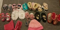 toddler's assorted color shoes and two hats Winnipeg, R3C