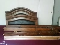 brown wooden bed headboard and footboard Willis, 77378