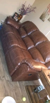 Brown leather sofa Coral Springs