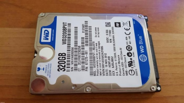 Western digital blue 2,5 320