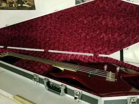 warlock bass with custom coffin case