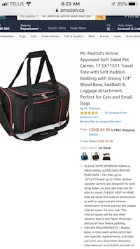 Mr peanuts soft sided collapsible airline approved pet carrier $46+ retail.  Looking for $35  Hamilton, L8M 2B5