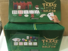 Texas hold'em Poker set. NEW
