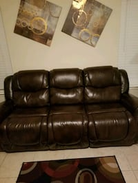 4 recliner sofa all let out except the one in the  Houston, 77084