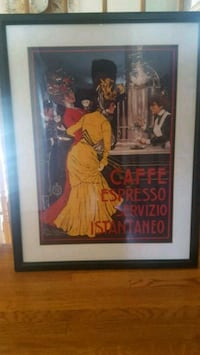 Framed coffee poster