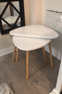 End tables w/ white top Toronto, M4P 1Y5