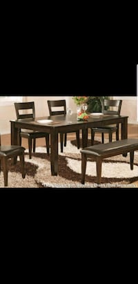 rectangular brown wooden table with chairs Fargo, 58104
