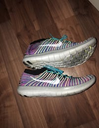 Nike Free RN Motion Flyknit Mens Running Shoes 12 Multi Color