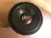 """Car subwoofer 10"""" with the box Takoma Park, 20912"""
