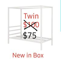 CANOPY BED, TWIN, NEW IN BOX