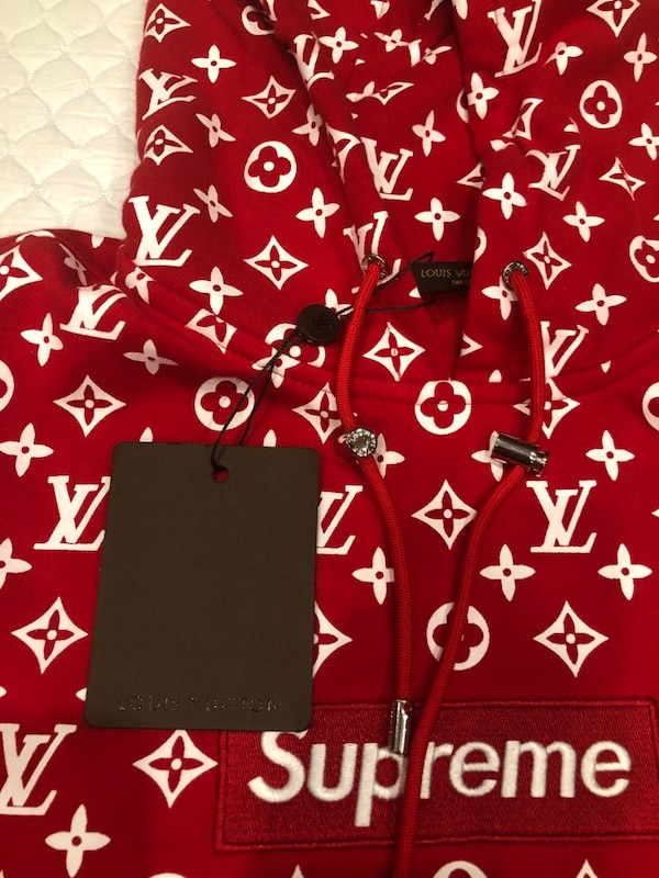 1790fc215be3d Used Supreme x louis vuitton hoodie rep for sale in Los Angeles - letgo