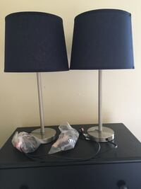 Two brand-new blue shade lamps Chicago, 60640