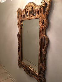 Moving sale ,Gold wooden framed wall mirror Côte-Saint-Luc, H4W 2Y2