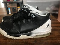 Black-and-white air jordan shoes
