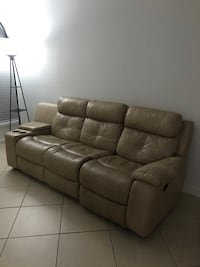 Leather recliner sofa Doral, 33172
