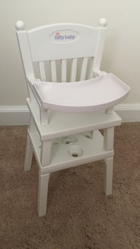 Used American Girl Bitty Baby High Chair For Sale In